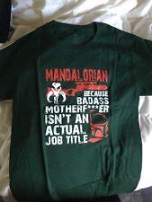Star Wars Boba Fett Mandalorian Green (Small) Tshirt