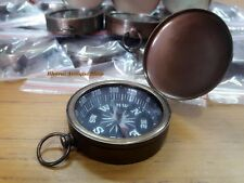 Brass Pocket Compass Vintage Style Antique Beautiful Marine Gift