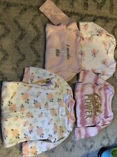 Lot Of 16 Pieces Baby Girl Clothes 0-3, 3-6, 6-9 Months Preowned