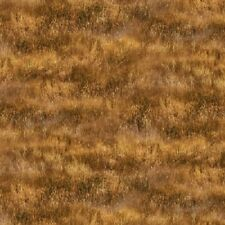 GREENER PASTURES BROWN GRASS MEADOW LANDSCAPE FABRIC