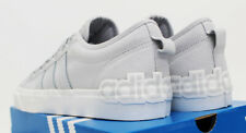 NIB ADIDAS Men's Nizza Logo Light-Grey White Low Top Skate Sneakers Tennis Shoes