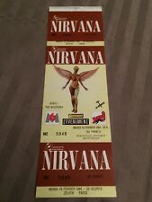 NIRVANA Full Concert Ticket PARIS ZENITH - ORIGINAL EMBOSSED - RARE NEAR MINT