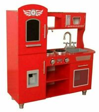 Kidkraft Supreme Classic Chefs Wooden Kitchen - Red