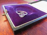 Edler 935 Silber Ring Zirkonia Solitär Jugendstil Art Deco Klassiker HB Designer