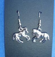 Western Cowgirl Jewelry ~Silver Horse~ French Wire Dangle Earrings