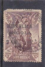 ANGOLA 7 1/2 c. s/ 75 reis VASCO da GAMA ON AFRICA AF # 123 Used TOP VALUE SET