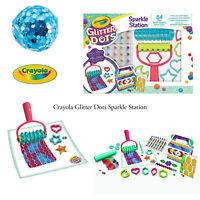 Crayola Kids Creative Fun Multi-Coloured Glitter Dots Sparkle Station Artwork