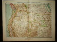 DOUBLE-PAGE MAP-N/W USA AND S/W CANADA, 204-205, ANDREE GREAT WORLD ATLAS- 1914