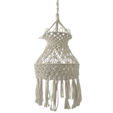 Macrame Lamp Shade Hanging Pendant Light Cover Modern Bohemian Home Decor