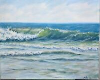 "Art 16""/20"" oil painting, surf, seascape, landscape,ocean,ocean painting"