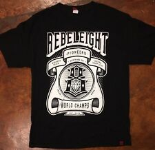 Men's REBEL EIGHT rebel8 Large black shirt World champion winners train L logo