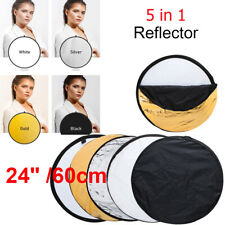 5 in 1 Collapsible Portable Light Reflector Diffuser Round Photo disc Photo NTH