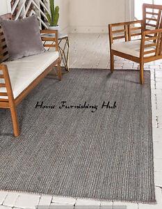 5 x 8 Ft Jute Rag Rug Braided Floor Reversible Handmade Indian Decorative Carpet