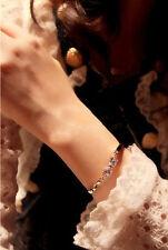 18K Gp Butterfly knot Cz Designer Women Bangle Bracelet. Usa seller