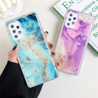 For Samsung Galaxy A12 A42 A52 A72 5G A50 Marble Silicone Rubber TPU Case Cover