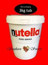 NUTELLA 3KG JAR GREAT GIFT IDEA  NUTELLA TUB 3KG FREE POSTAGE
