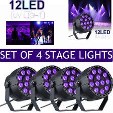 4x 12W UV LED Black Light Par DMX Stage Lighting Light Disco Party Wall Washer A