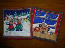 """Two 15"""" Padded Christmas Cushion Covers"""