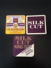 3x Silk Cut Beer Mats Drip Mats Coasters