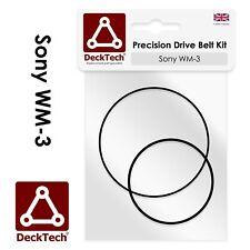 DeckTech™ Replacement Belts for Sony Walkman WM-3 WM3   Rubber Drive Belt
