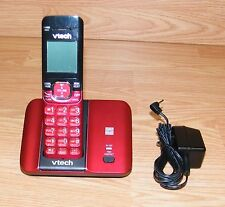 VTech (CS6519) Red DECT 6.0 Single Line Cordless Phone w/ AC Power Supply