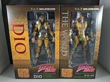 JoJo's Bizarre Adventure Dio & The World Super Action Statue Figure Set of 2