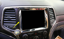 or Jeep Grand Cherokee 2014-2017 Chrome Car Inner Center Console GPS Panel Trim