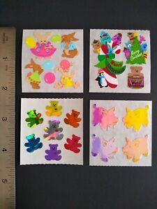 SANDYLION Sticker sezione 80er 90er tessuto cane ossa Adesivo Sticker album