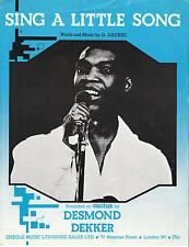 Sing A Little Song - Desmond Dekker - 1975 Sheet Music