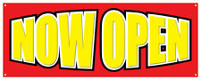 Now Open Grand Opening New Store Business Sale Sign 36x96