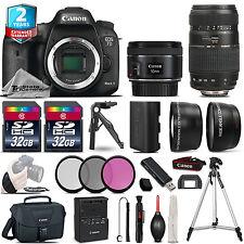 Canon EOS 7D Mark II DSLR Camera + 50mm 1.8 STM & 70-300mm + 2yr Warranty + 64GB