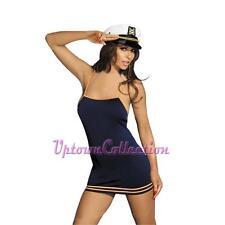 Ladies sexy Sailor Girl Navy Uniform & Hat Fancy Dress Navy Dress Club Costume