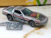 "Vintage 1982 Kidco Lock-Ups Corvette TURBO ""Vette"" #90 Gray With KEY 1/64 Scale"