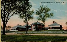 1914 Street View Wentworth Hospital Dover New Hampshire NH Postcard A14