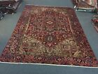 On Sale Beautiful Genuine Herizz Vintage Hand Knotted Area Rug 7'11x10'6,#2482