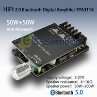 AUX+Bluetooth 2x50W HIFI Power with Filter Digital TPA3116 Amplifier Stereo AMP