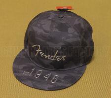 910-6633-406 Fender Guitar Hi Def Flat Brim Hat One Size Camo Truck Hat Ball Cap