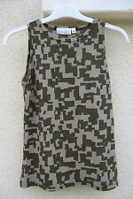 Tee-shirt / Débardeur vert kaki genre camouflage femme T.M