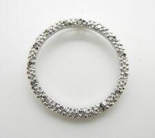 NATURAL GENUINE DIAMOND CIRCLE PENDANT~STERLING SILVER~PRETTY