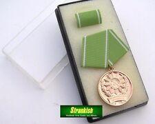 DDR NVA East armée allemande/service de police Médaille dans boîte de présentation