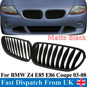 51117117757 For BMW Z4 E85 E86 M Coupe 2003-08 Front Kidney Grille Matte Black
