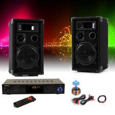 Partykeller DJ PA Musikanlage Bluetooth Verstärker USB SD MP3 Lautsprecher Boxen