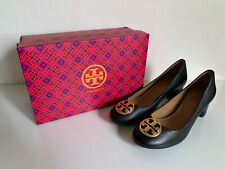 TORY BURCH CHELSEA 50MM NAPA LEATHER PERFECT BLACK PUMPS HEELS SANDALS SHOES 6