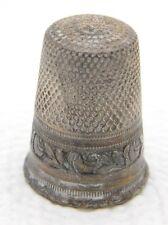 Antique 800 Silver #8 Floral Rose Thimble