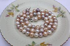 a019b 51cm naturales perla de Agua Dulce JOYA COLLAR cadena