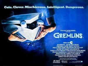 "GREMLINS 1984 Joe Dante Repro UK cinema Quad poster 30x40"" FREE P&P"