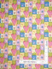 Heart Fabric - Hearts Flowers Patch Northcott #2099 Ro Gregg Hip Hop - YARD