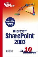 Sams Teach Yourself Microsoft SharePoint 2003 in 10 Minutes (Sams Teach