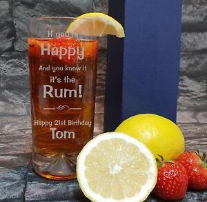 Personalised Engraved Hi Ball Tumbler Comedy Rum glass Birthday/Xmas  HBB91