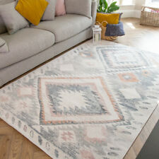 Multicoloured Aztec Living Room Rug Small Large Tribal Rugs Transitional Geo Rug